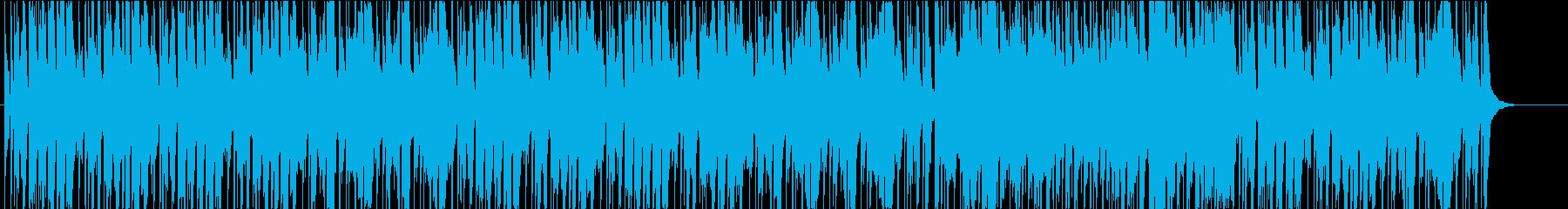 日常生活や何気ない場面用のBGMフルートの再生済みの波形