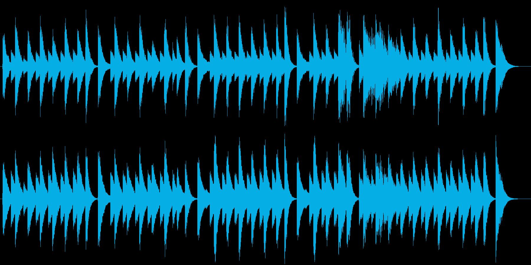 クッキング動画に♪のんびりピアノジングルの再生済みの波形