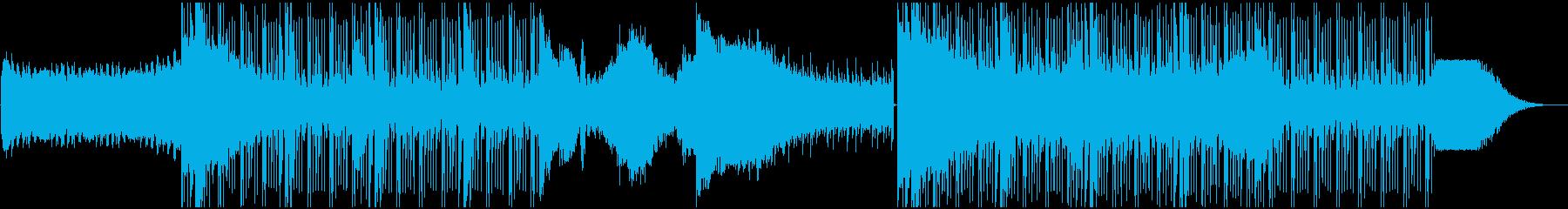 バトルシーン、疾走感あるデジタルロックの再生済みの波形