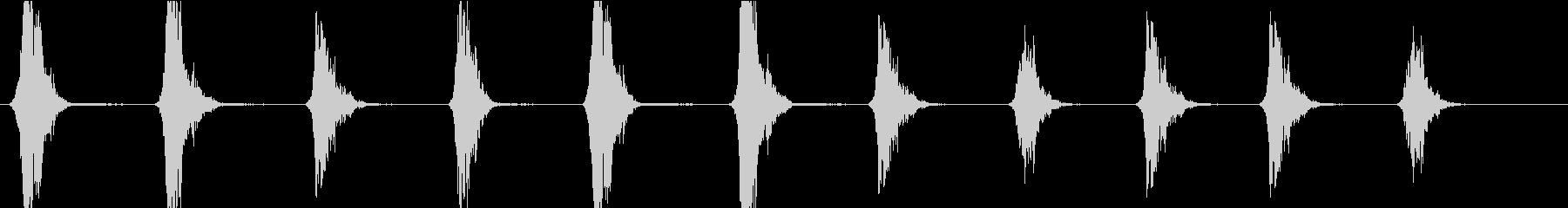 深い男性の吐息(ロングバージョン)の未再生の波形