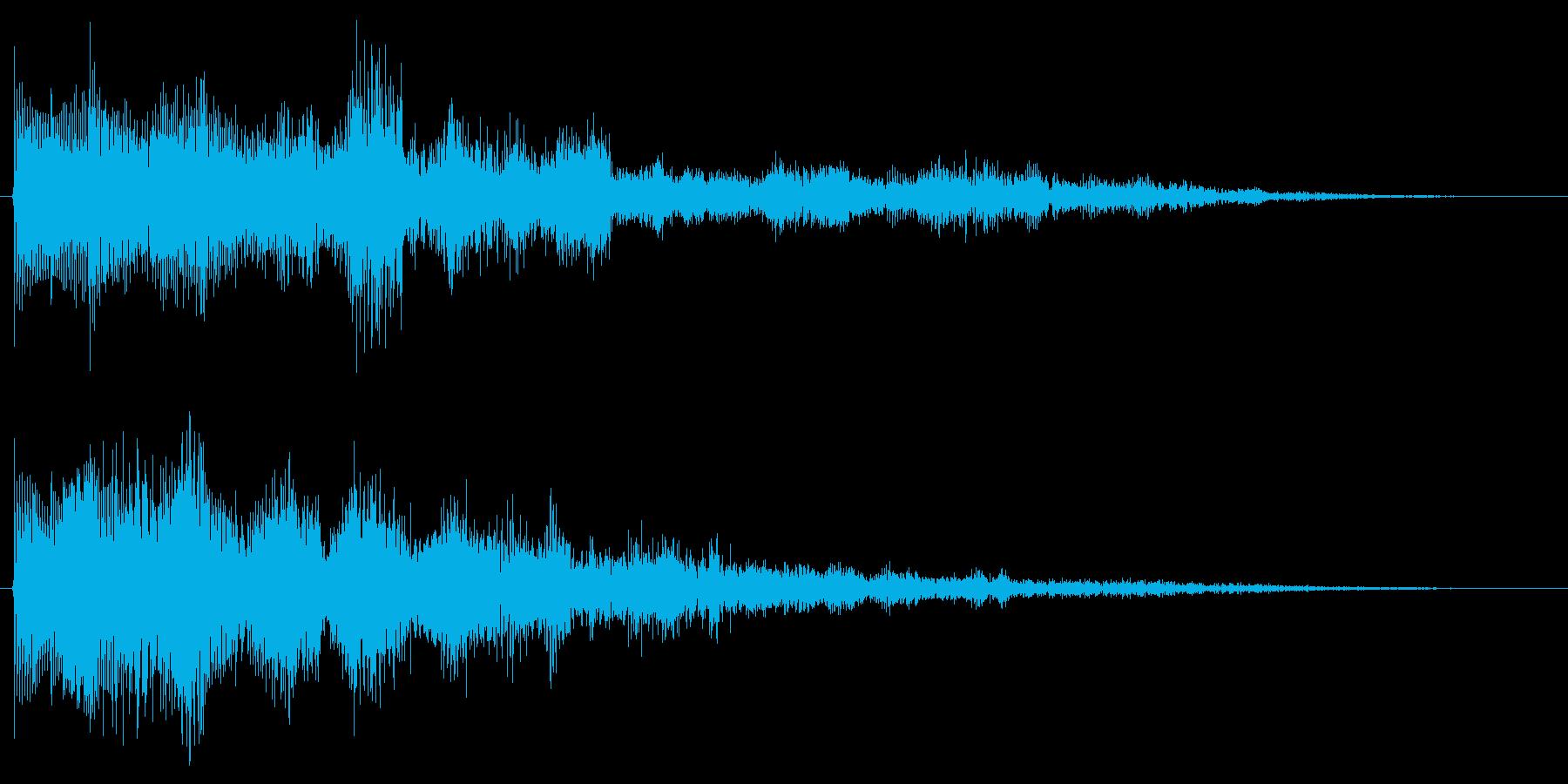 マジカルなセレクト音 決定音 クリック音の再生済みの波形