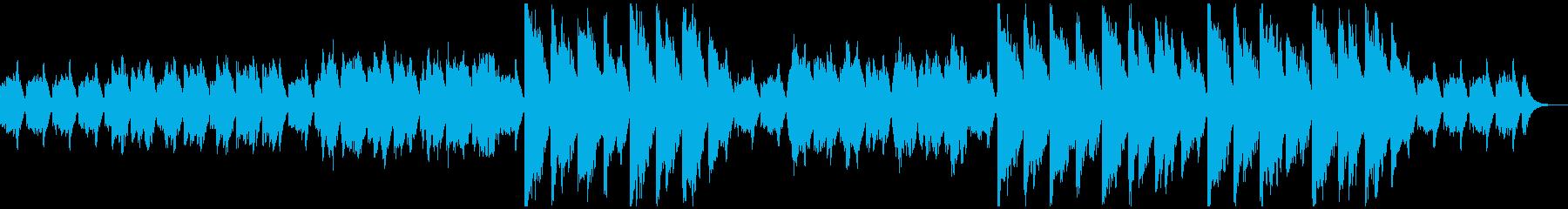眠りの国へようこそ、睡眠を誘う音楽の再生済みの波形