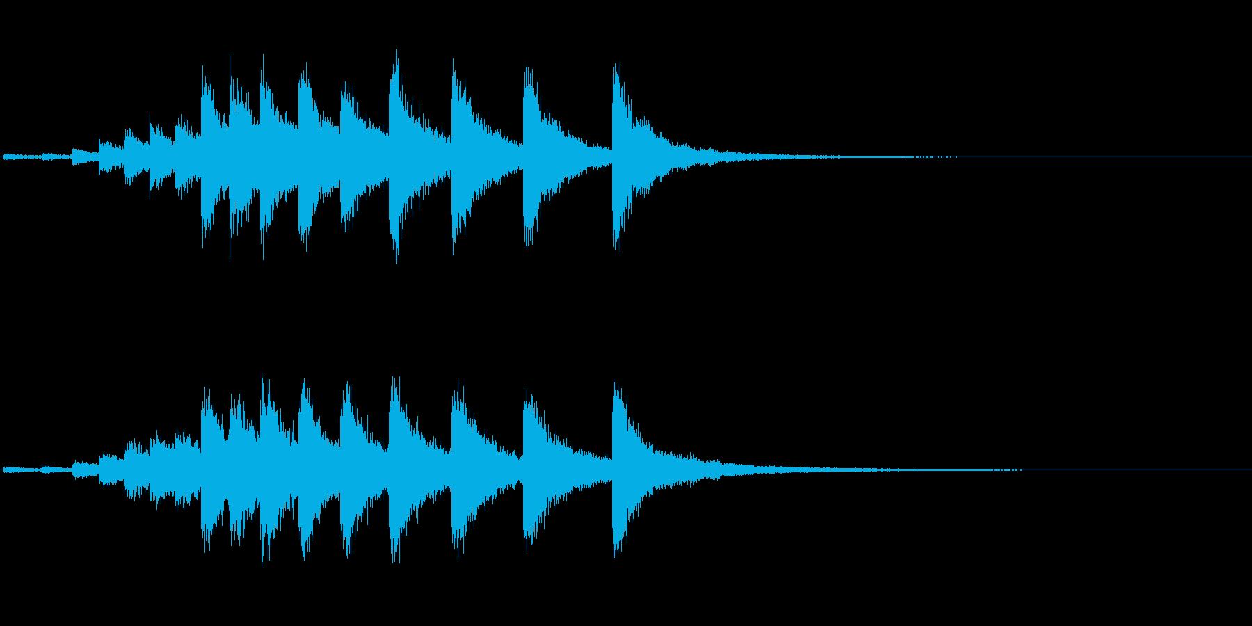 『カンカンカン・・・』韓国ドラの連打音の再生済みの波形