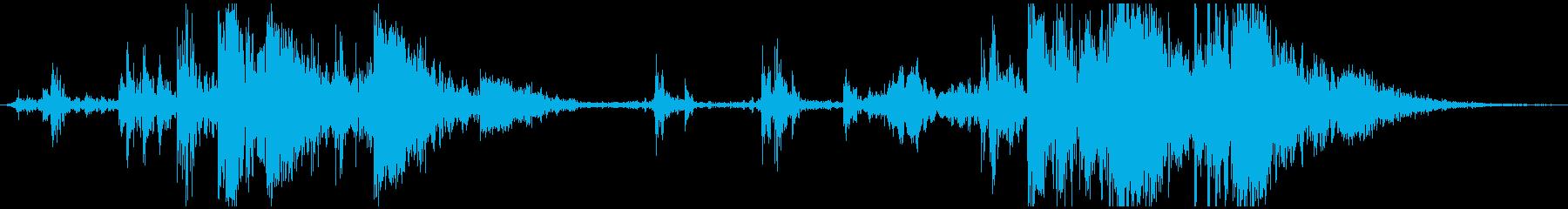 古い機械のガシャンガシャン(ループ)の再生済みの波形