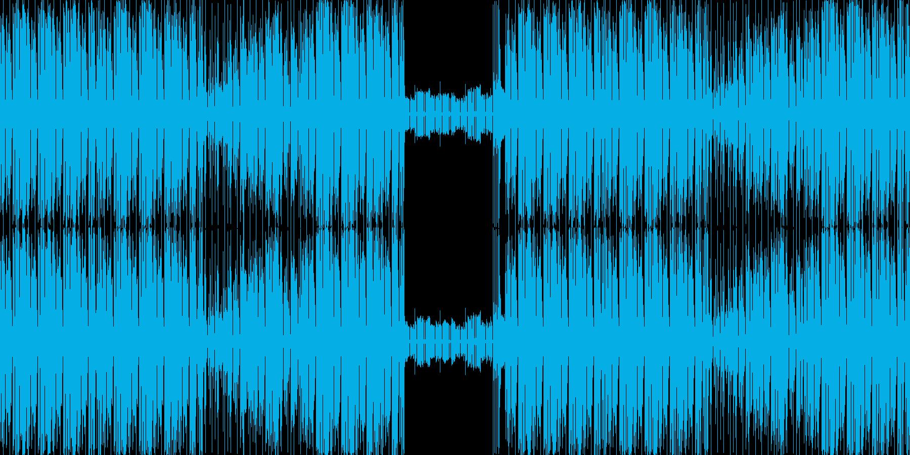 【日常系BGMエレクトロニカ・ファンク】の再生済みの波形