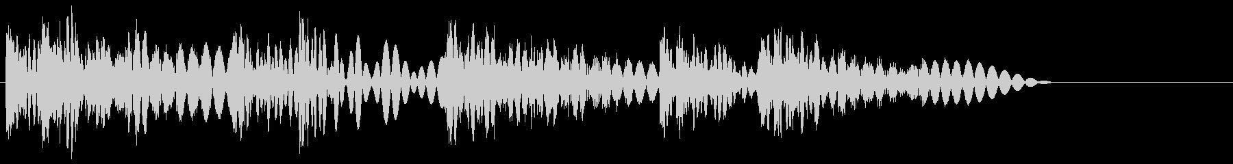 ボコボコッビシバシ(ラッシュ攻撃)の未再生の波形