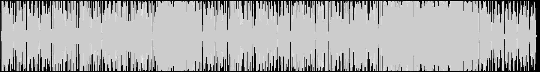ベースリフの暗すぎないロックの未再生の波形