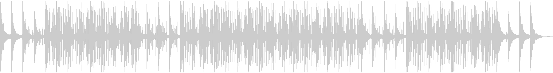 幻想的なローファイビートの未再生の波形