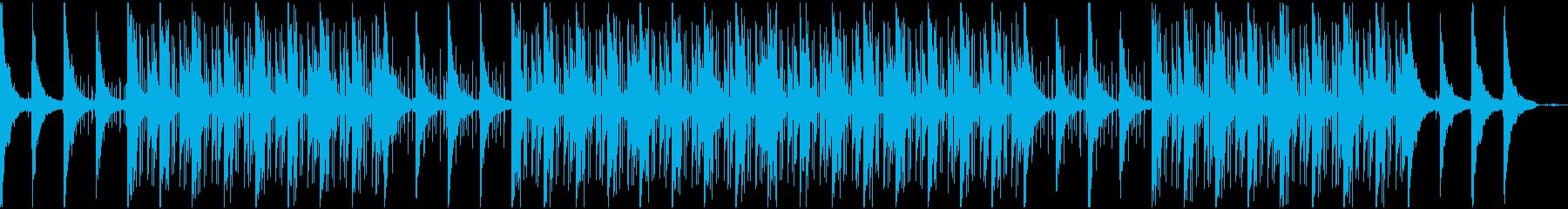 幻想的なローファイビートの再生済みの波形