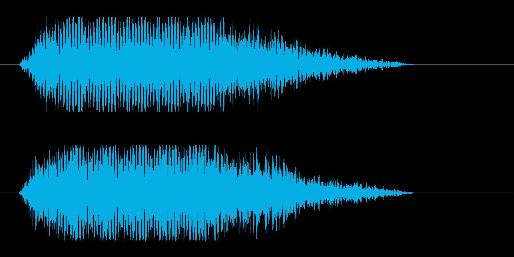 レーザー音-50-3の再生済みの波形