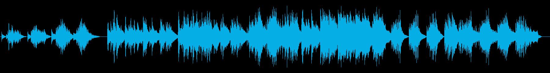 お洒落なピアノバラードの再生済みの波形