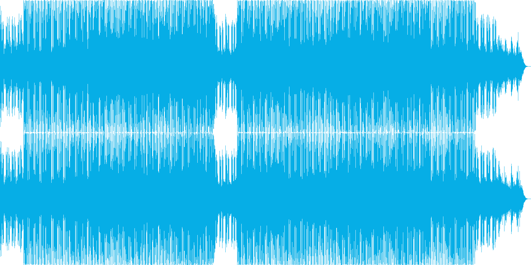 浮遊感の強いチルアウトミュージック。の再生済みの波形