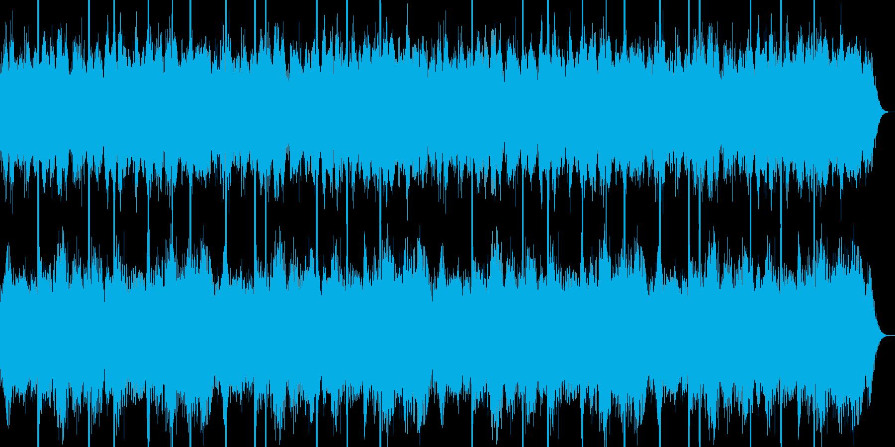 ホラー映画の不気味なワンシーンの再生済みの波形