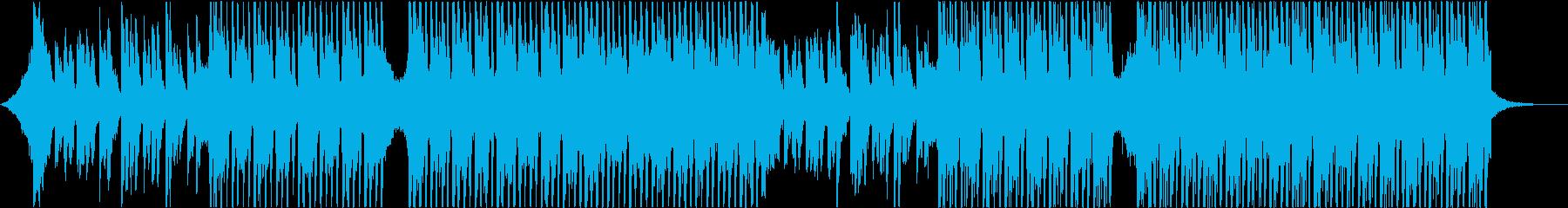エレクトリックギターとシンセサイザーを備の再生済みの波形