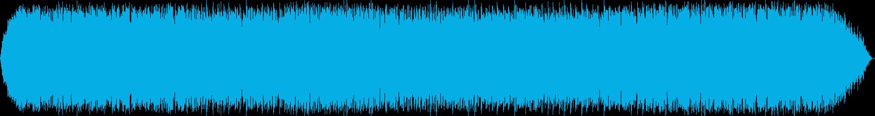 ゆったりとした笛のヒーリング音楽の再生済みの波形