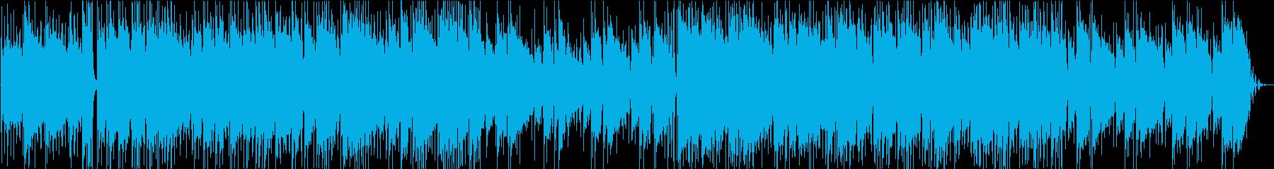 ほのぼのした雰囲気のギターソロの再生済みの波形