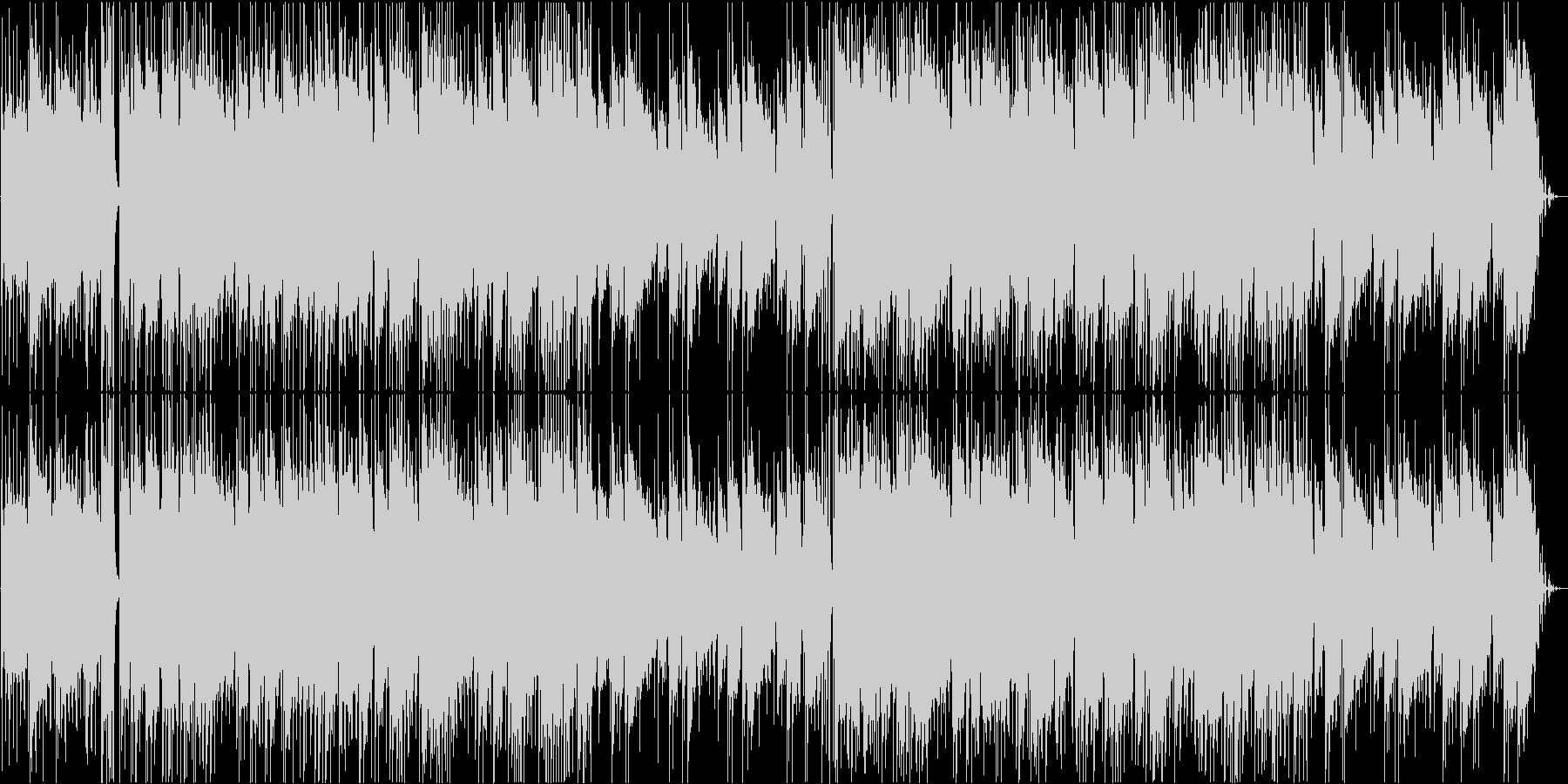 ほのぼのした雰囲気のギターソロの未再生の波形