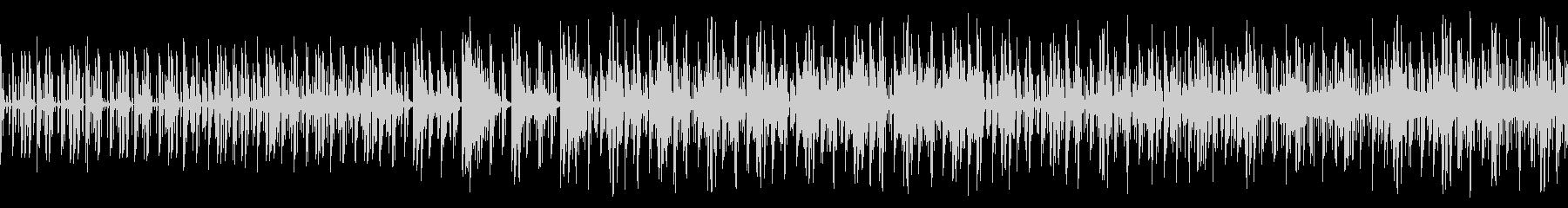 幻想的な電子音BGMの未再生の波形