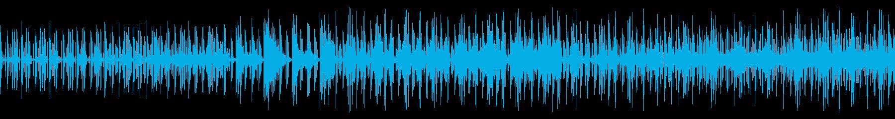 幻想的な電子音BGMの再生済みの波形