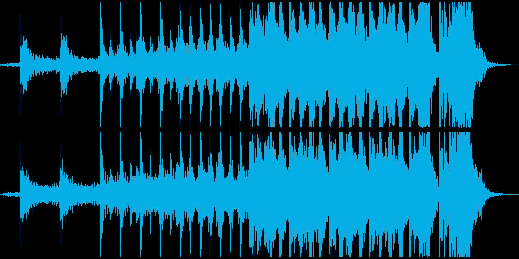映画の予告編のようなパワフルな楽曲の再生済みの波形