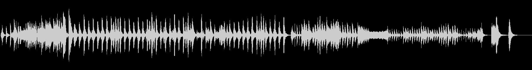 いたずらっぽく、ほっこりとしたBGMの未再生の波形