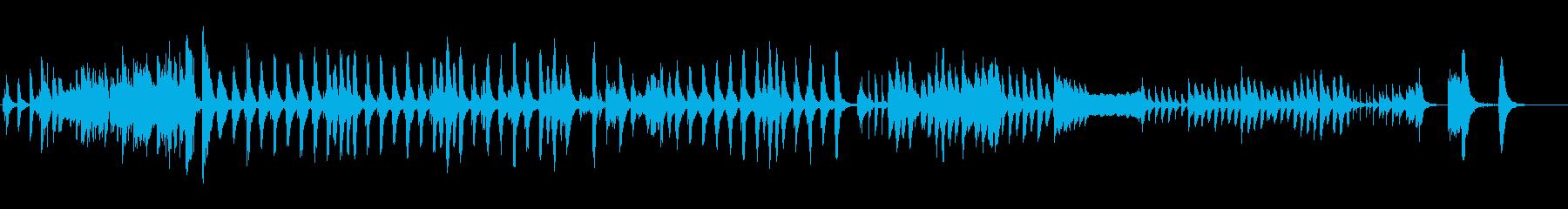 いたずらっぽく、ほっこりとしたBGMの再生済みの波形