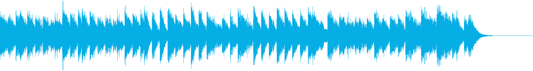 華やかに輝く賑やかで楽しいピアノジングルの再生済みの波形