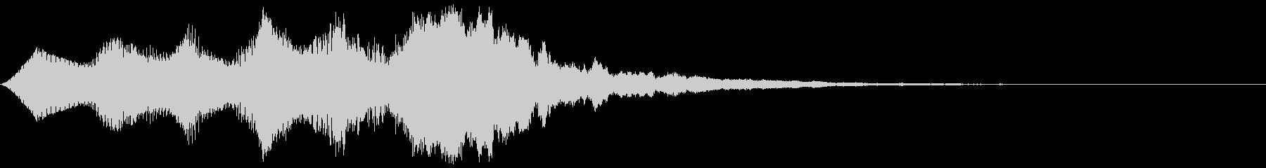 ファンファーレ(バイオリン風)の未再生の波形