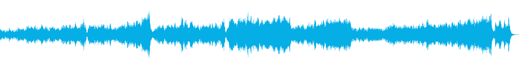 幻想的でおしゃれなワルツの再生済みの波形