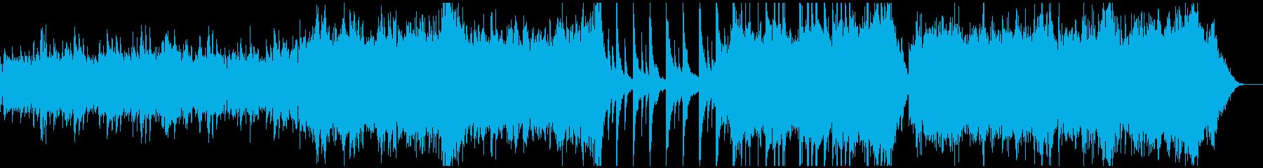 リラックスできるピアノとシンセサイザーの再生済みの波形