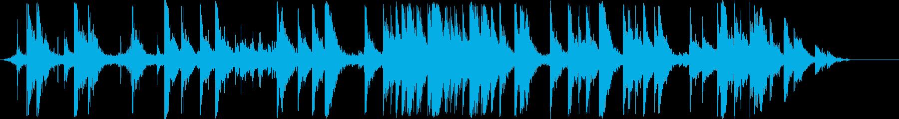 忠実な教会の歌の再生済みの波形