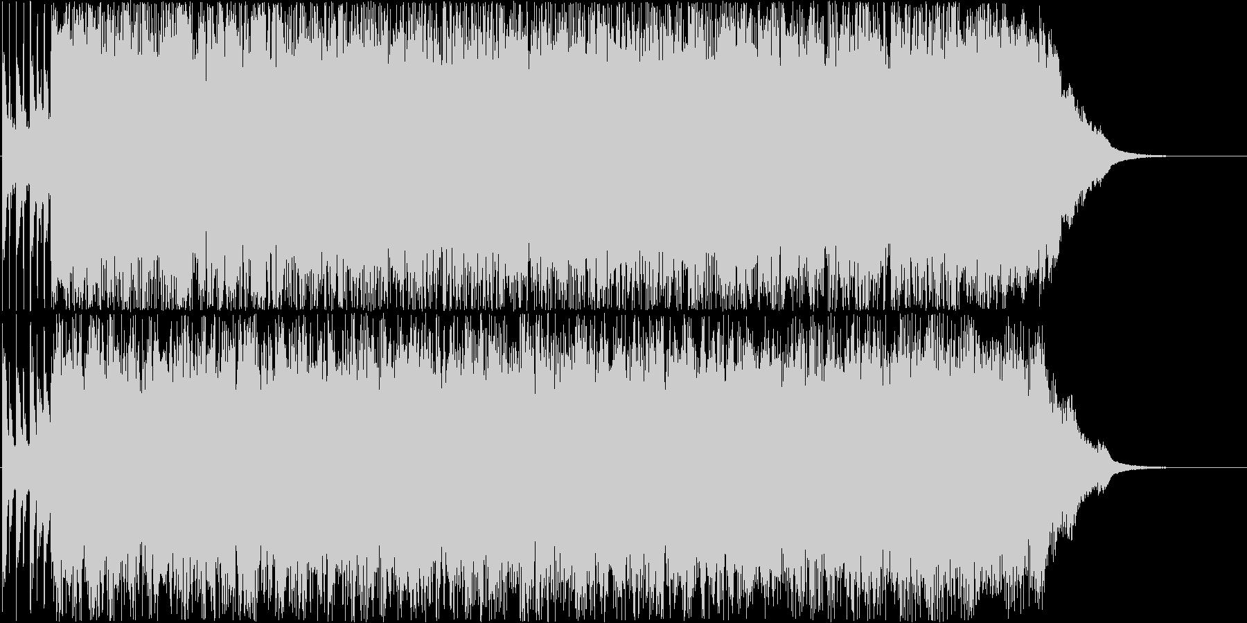 疾走感のあるパンクサウンド。スカVerの未再生の波形