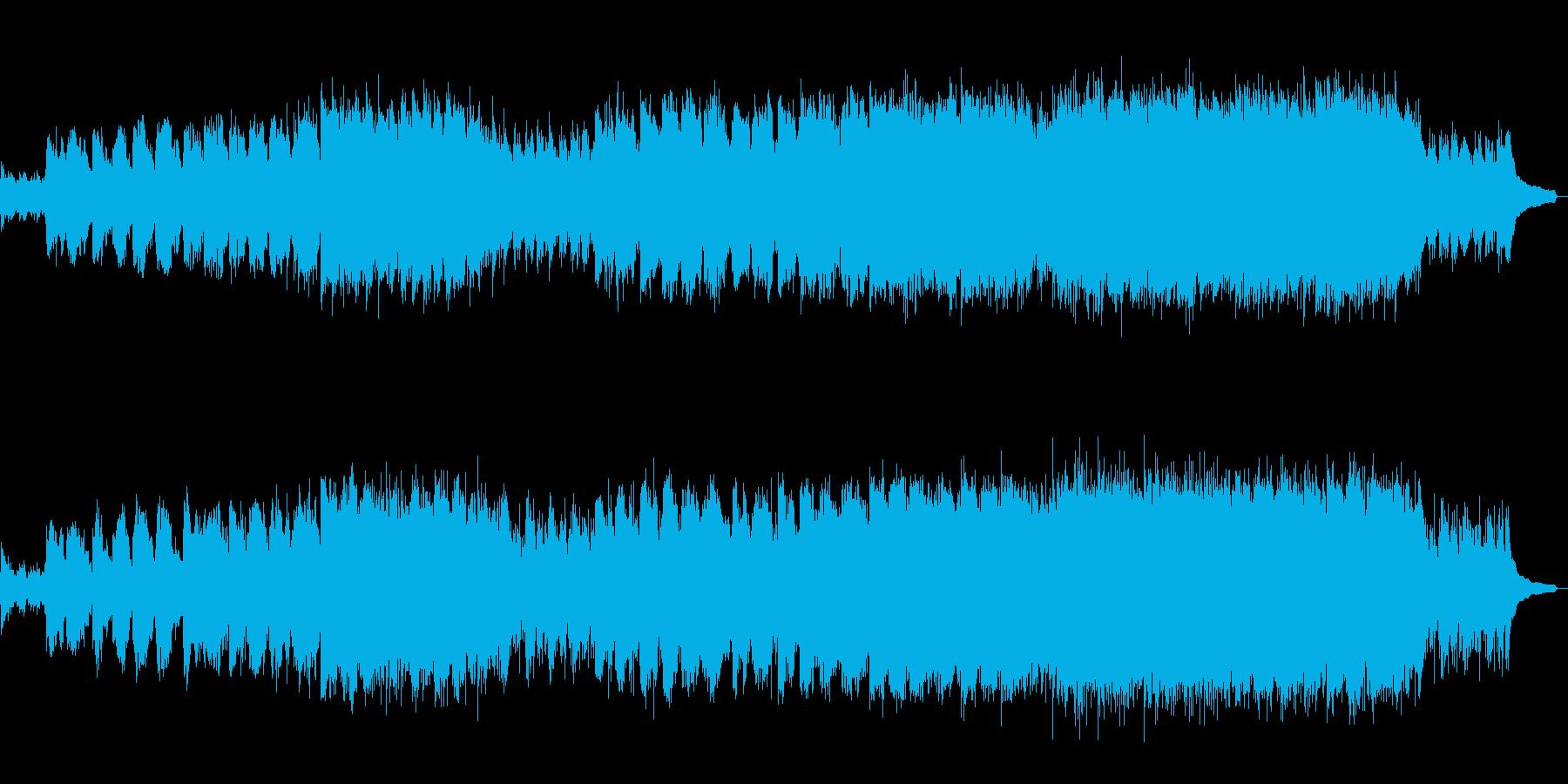生フルート!段々盛り上がる感動&壮大な曲の再生済みの波形
