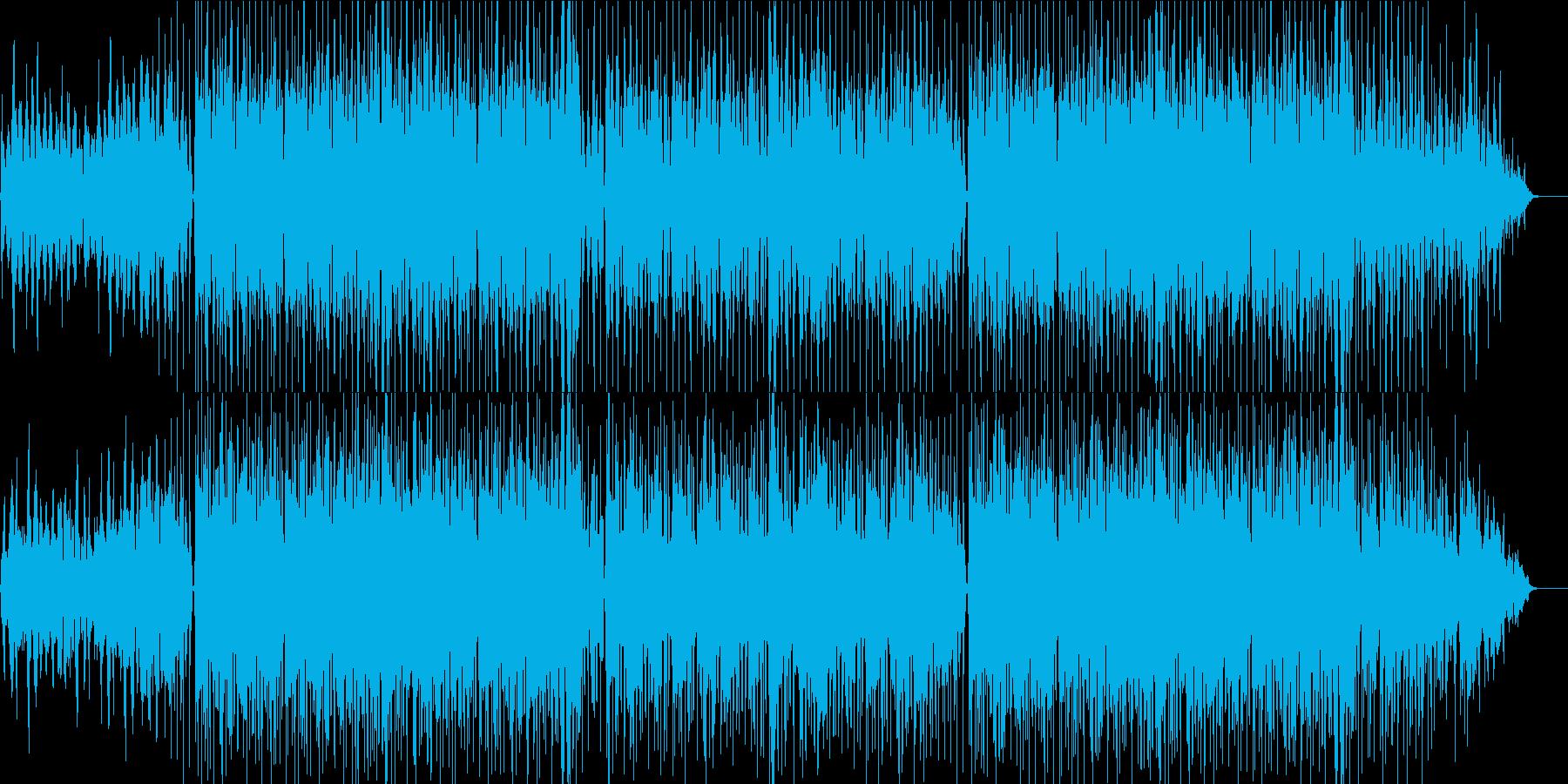 メロウでリラックスできるチルミュージックの再生済みの波形