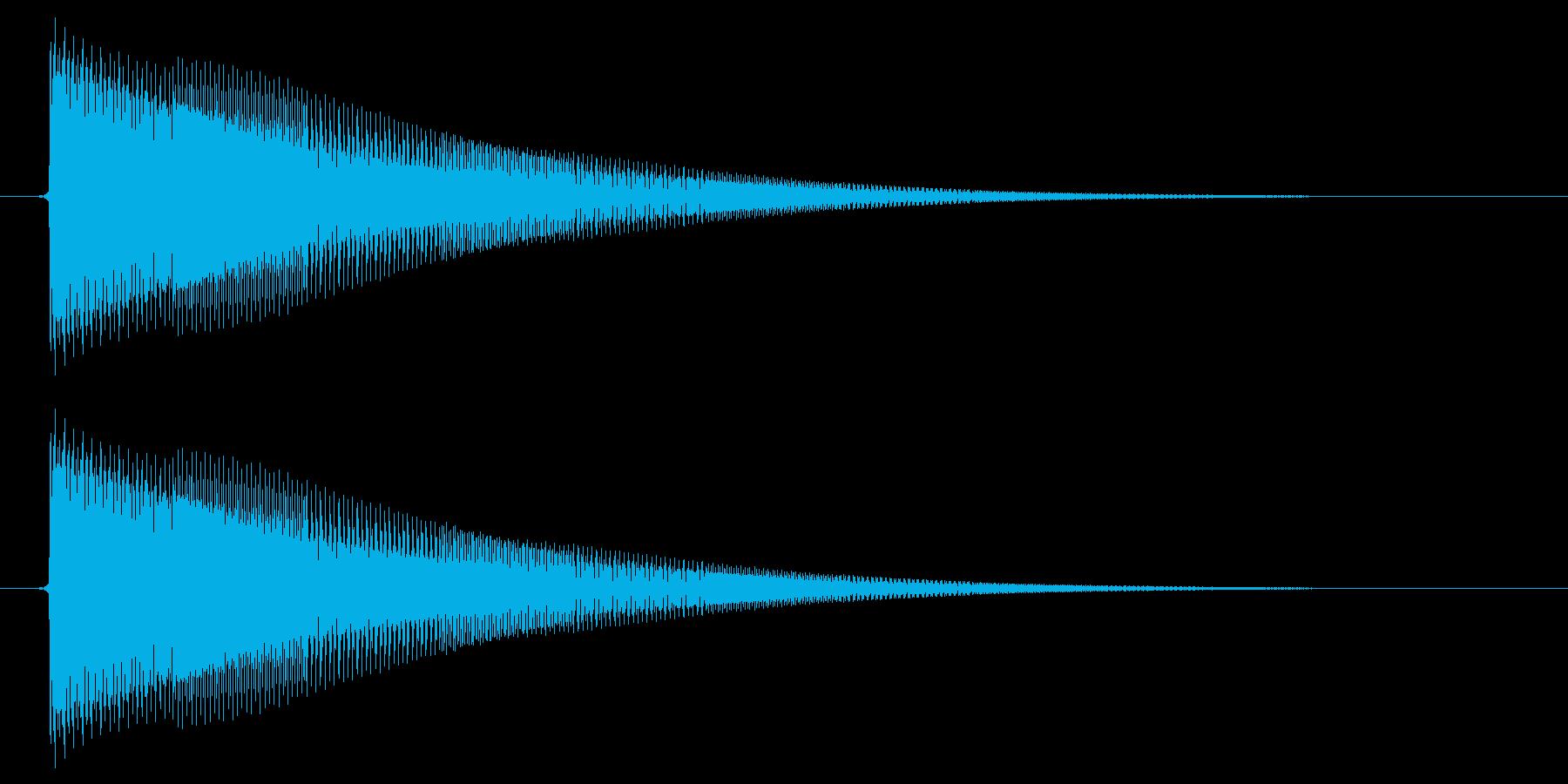 決定/電子音/SF系の再生済みの波形