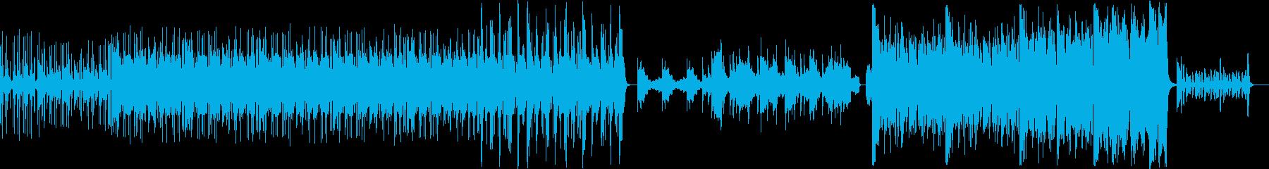 挑戦するシーンイメージしたBGMの再生済みの波形