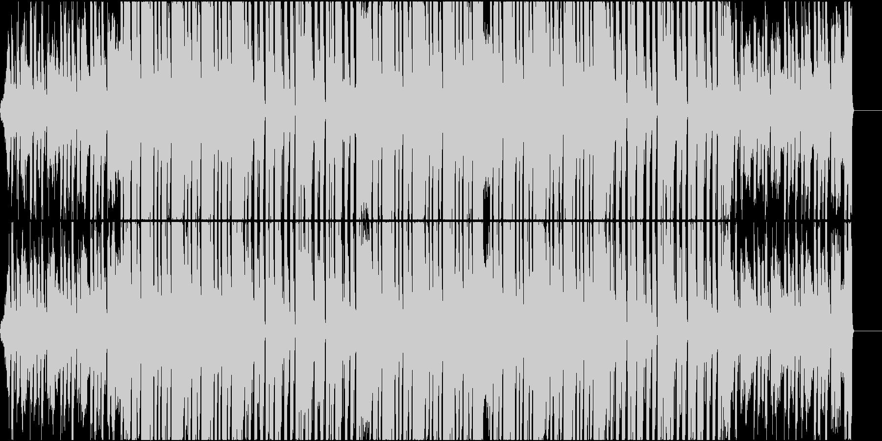 デジタルでフラットな雰囲気のEDMの未再生の波形