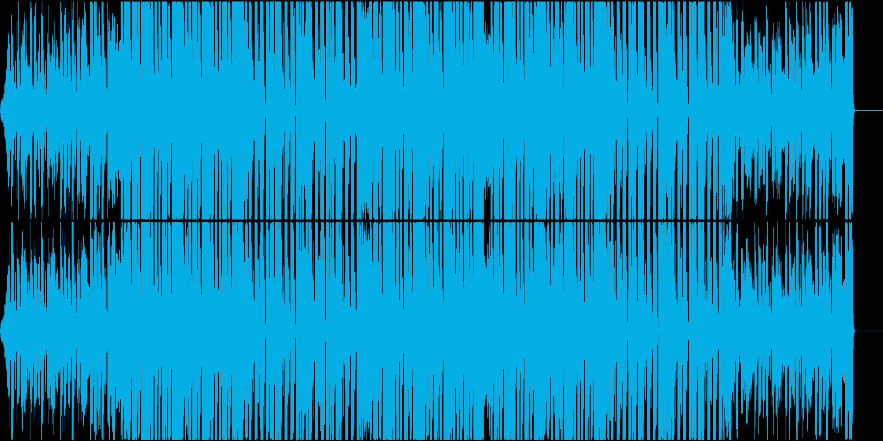 デジタルでフラットな雰囲気のEDMの再生済みの波形