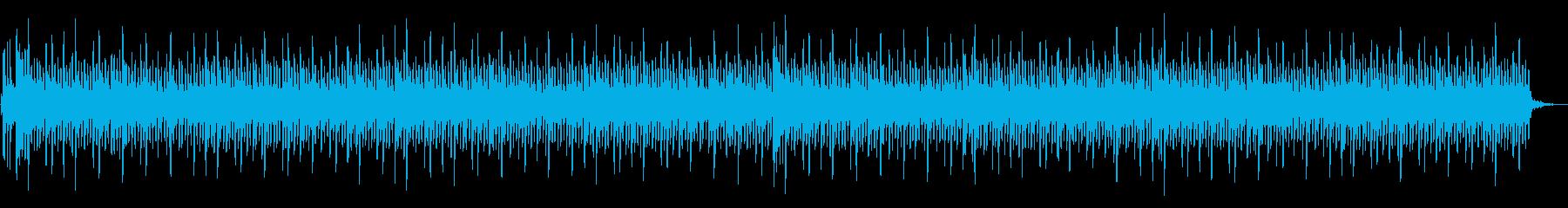 夜の雰囲気に合いそうなBGMの再生済みの波形