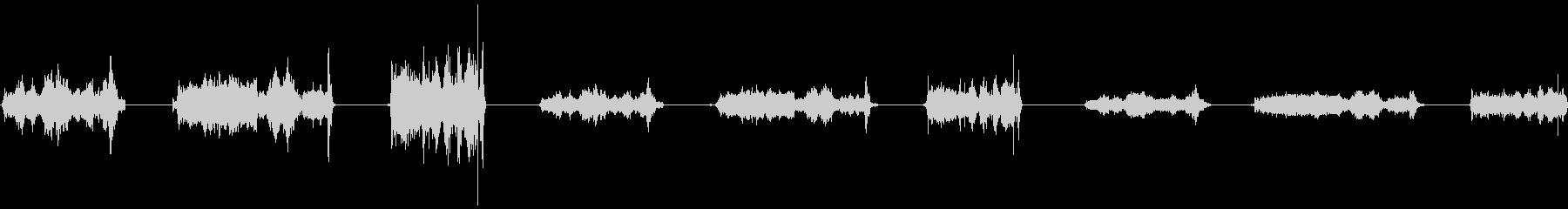 ローププル、ロング、3バージョンX...の未再生の波形