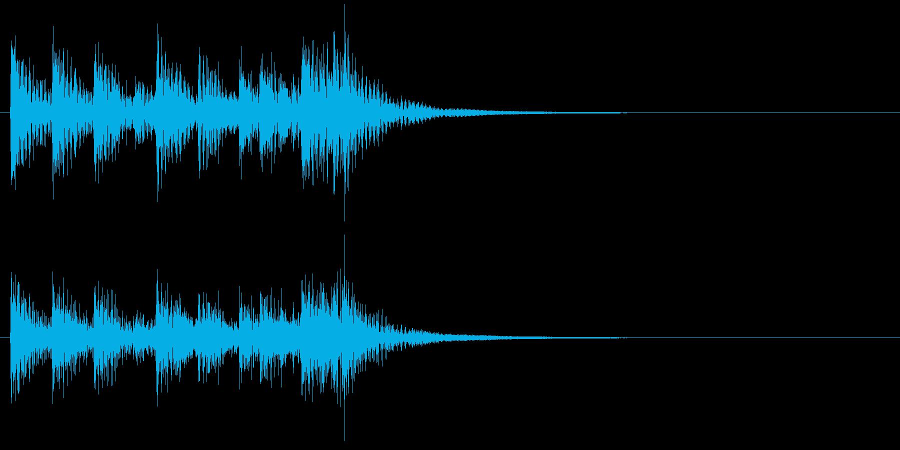 和風ジングル2、和太鼓アンサンブルBの再生済みの波形