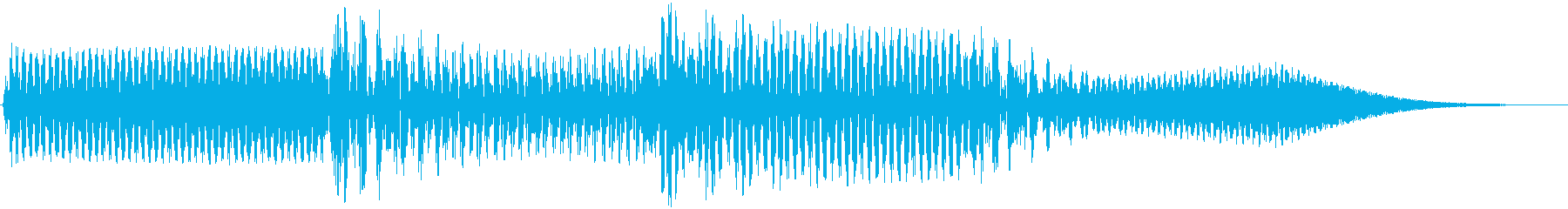 ボタン音(シンセ高音)の再生済みの波形