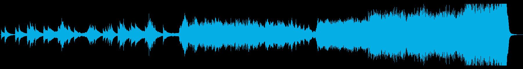 ピアノとチェロのイントロから感動的な展開の再生済みの波形