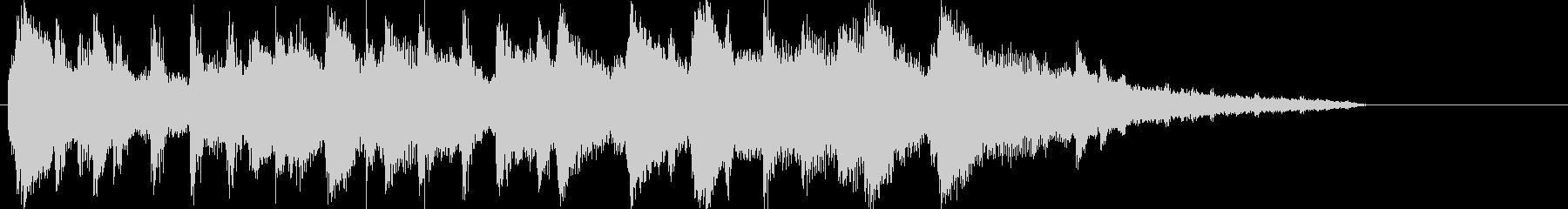 ガットギターとピアノの癒し系ボサノバの未再生の波形