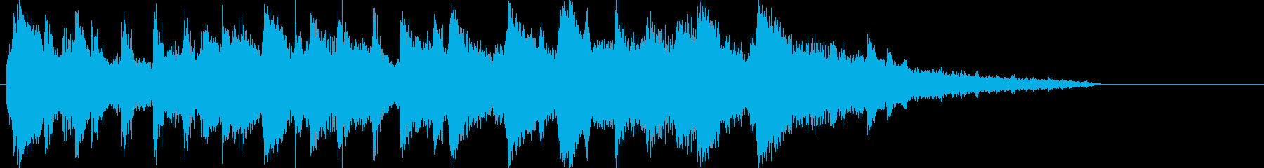 ガットギターとピアノの癒し系ボサノバの再生済みの波形