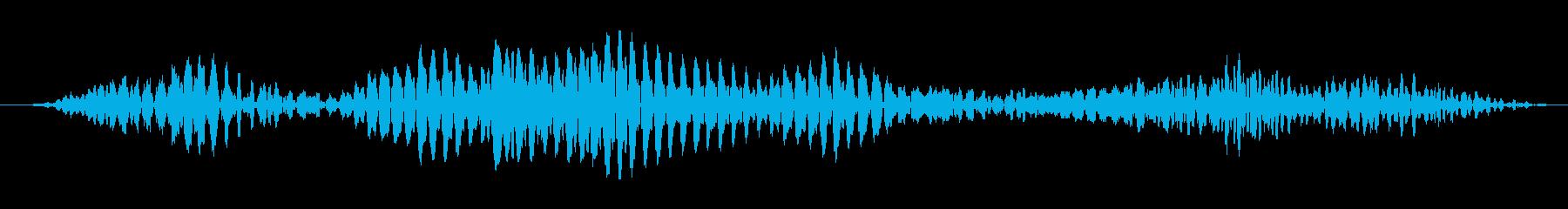 ゴロゴロと唸る怪獣の音の再生済みの波形