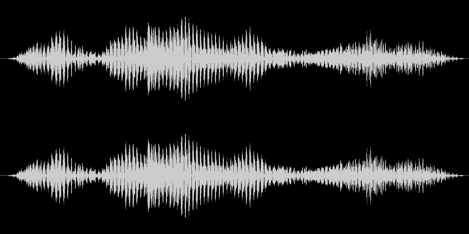 ゴロゴロと唸る怪獣の音の未再生の波形