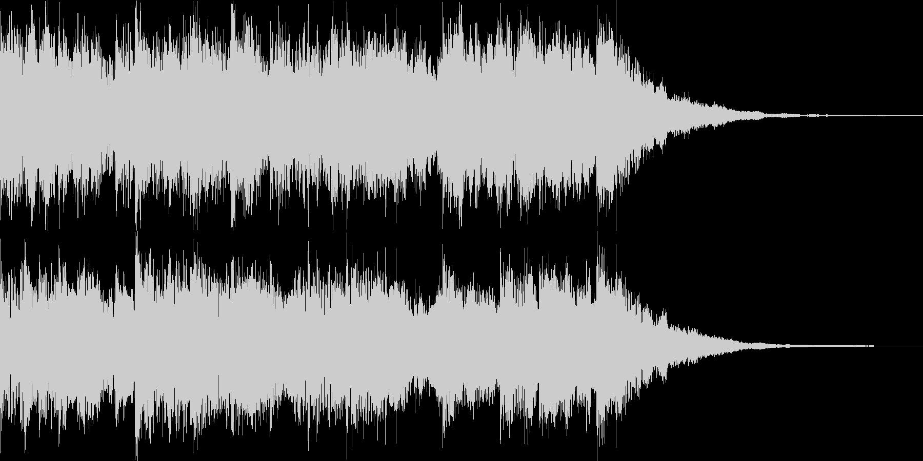 ニュース番組風サウンドロゴ(5秒)の未再生の波形