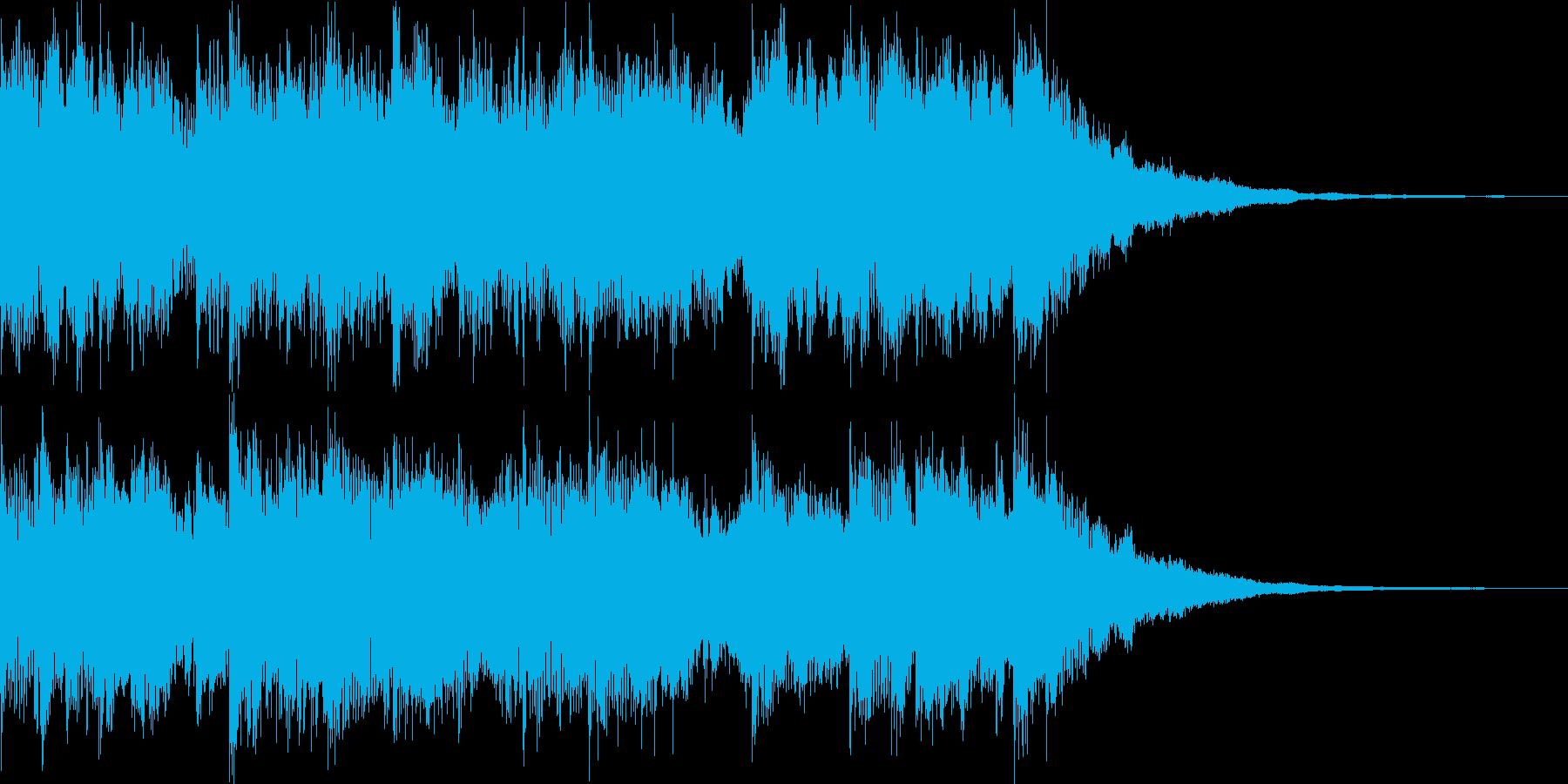 ニュース番組風サウンドロゴ(5秒)の再生済みの波形
