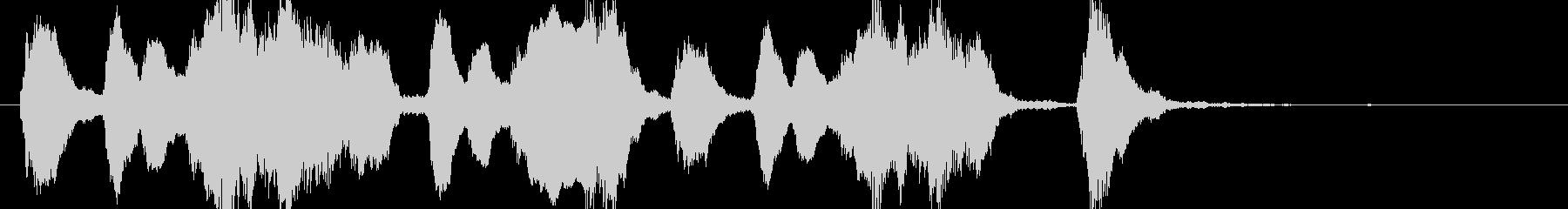 ファゴットの怪しいコミカルなジングルの未再生の波形